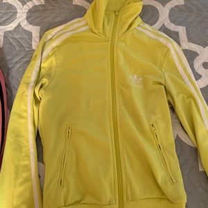 Limited edition lime green/yellow adidas jacket